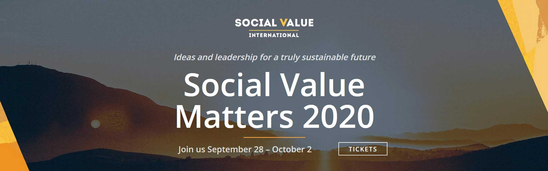 Social value Matters conference banner
