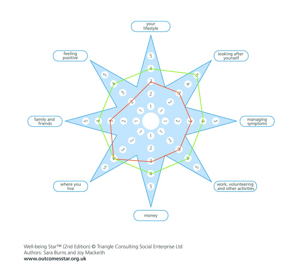 The completed well-being Star