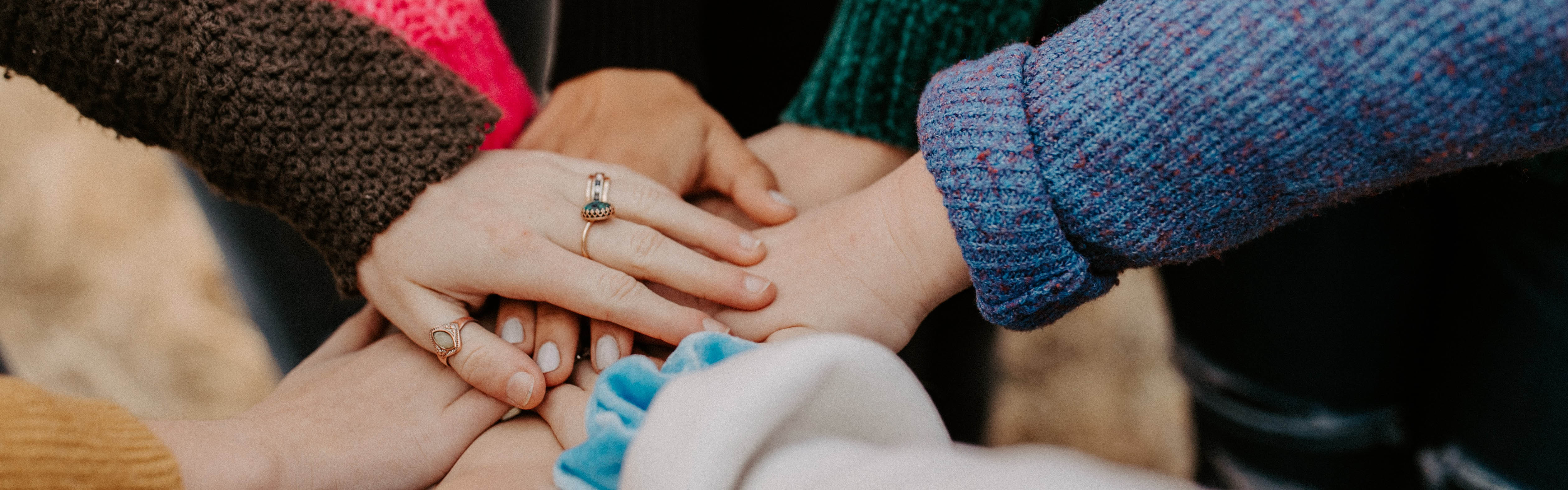 Stock image of hands together